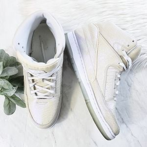 Nike Air Python Premium Metallic White Sneakers